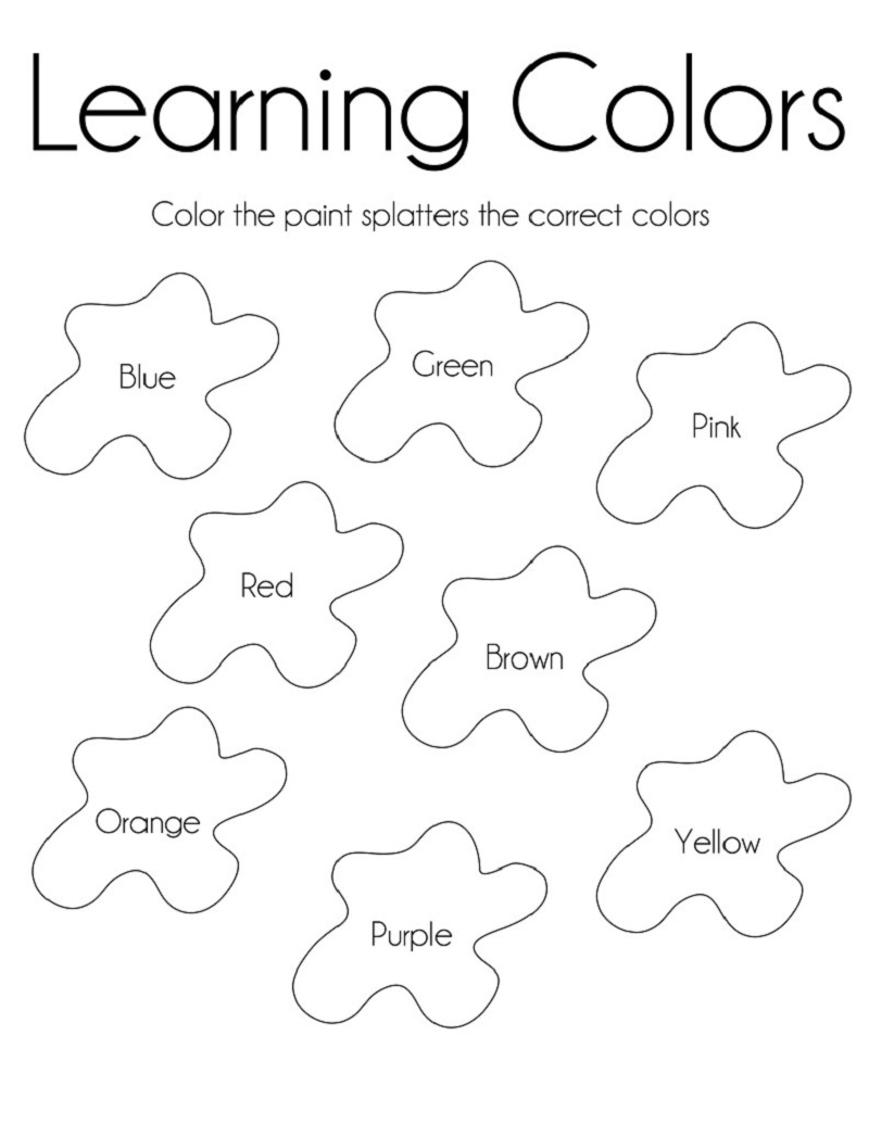 free learning printables learning colors