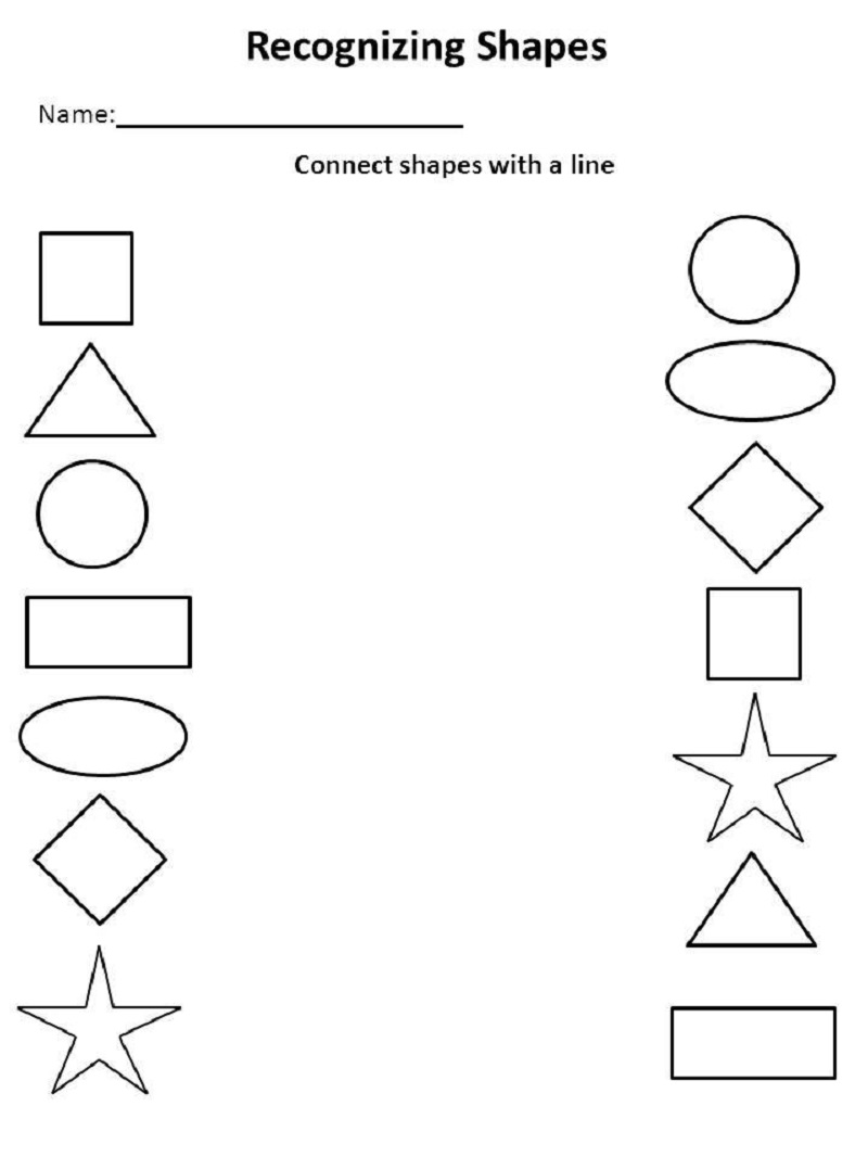 free learning printables recognizing shapes