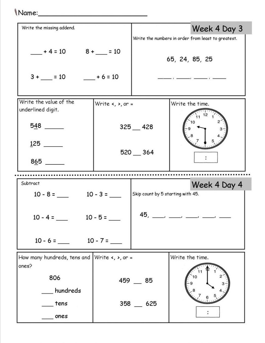 free printable math workbooks 5