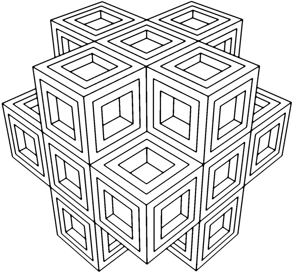 geometric coloring pages 1