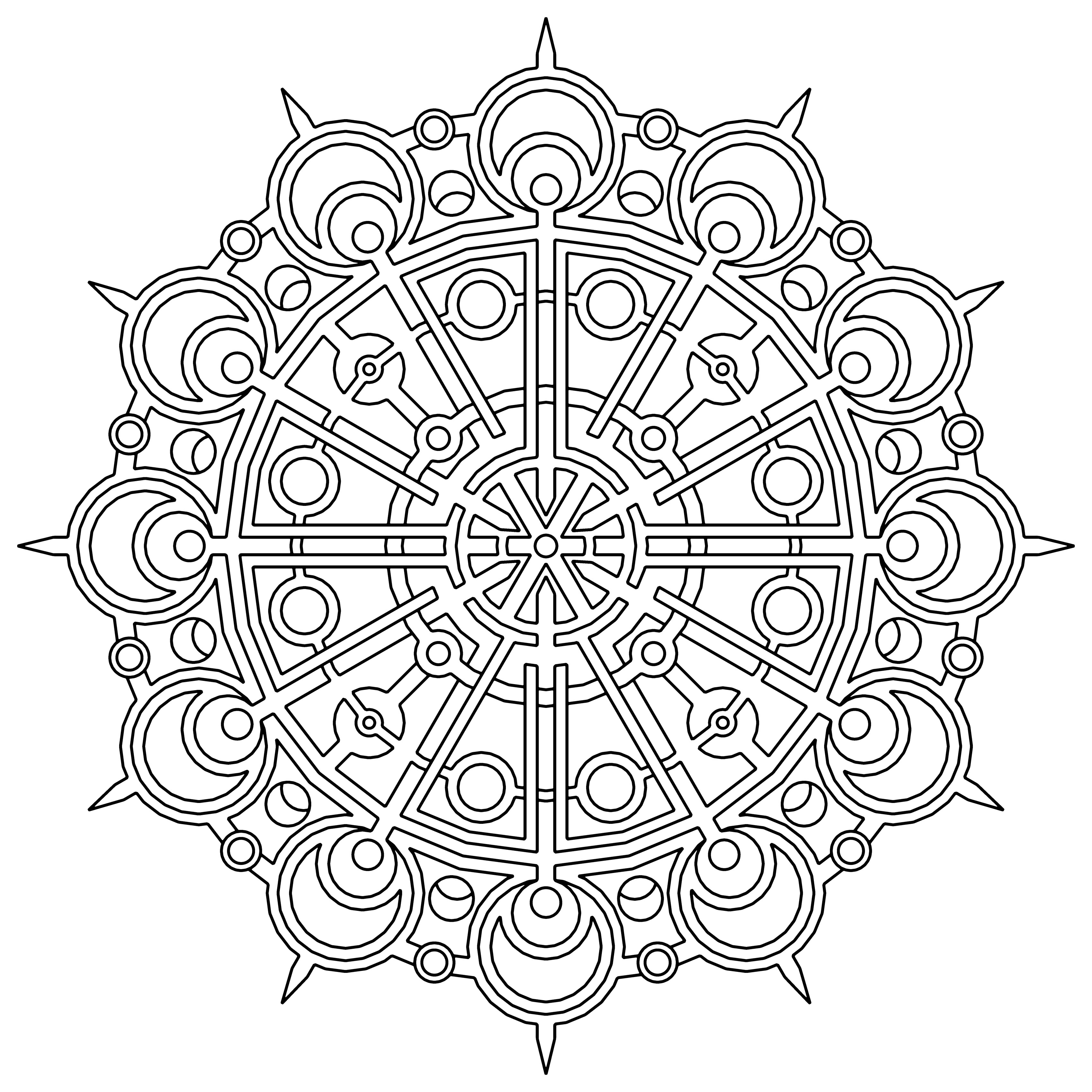 geometric coloring pages 5