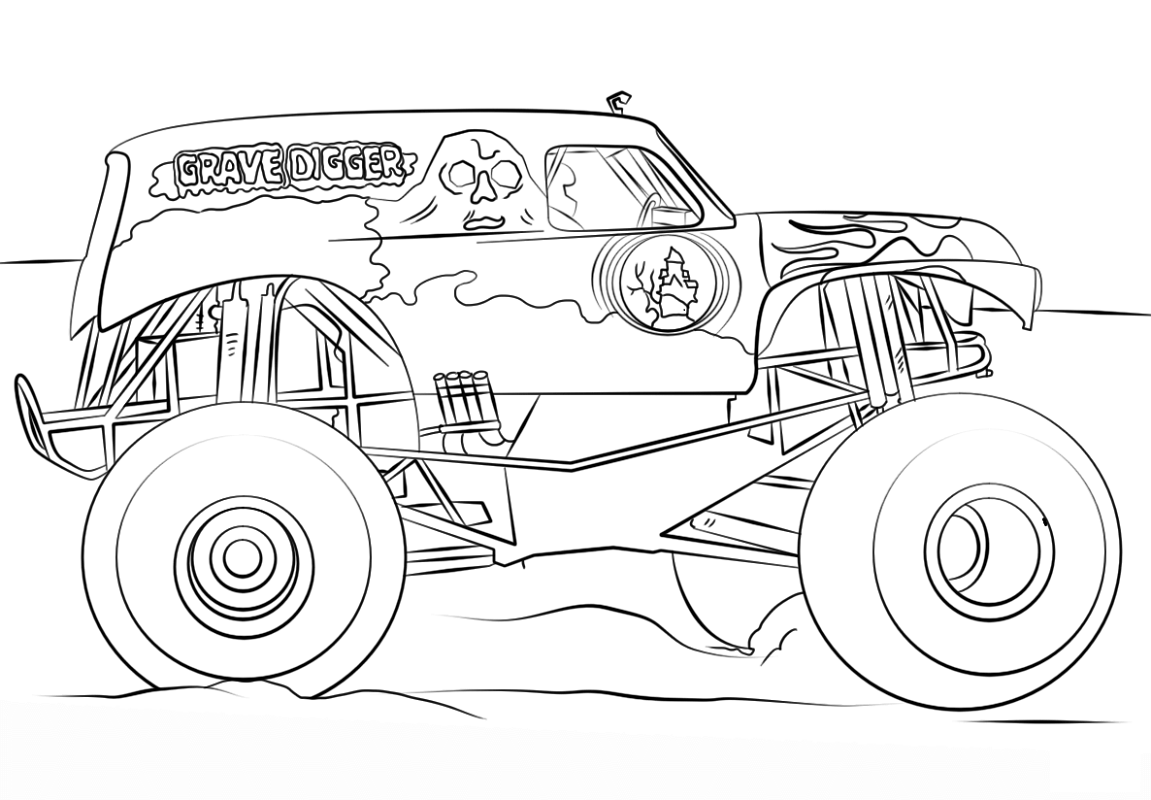 grave digger coloring pages 1