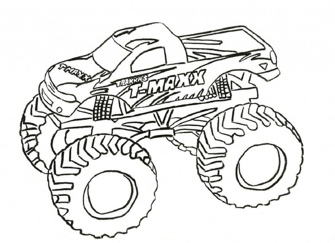 grave digger coloring pages 2