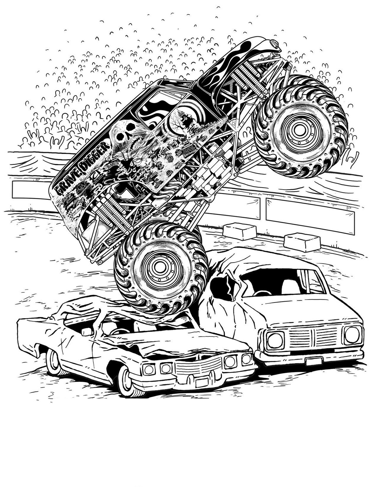 grave digger coloring pages 3