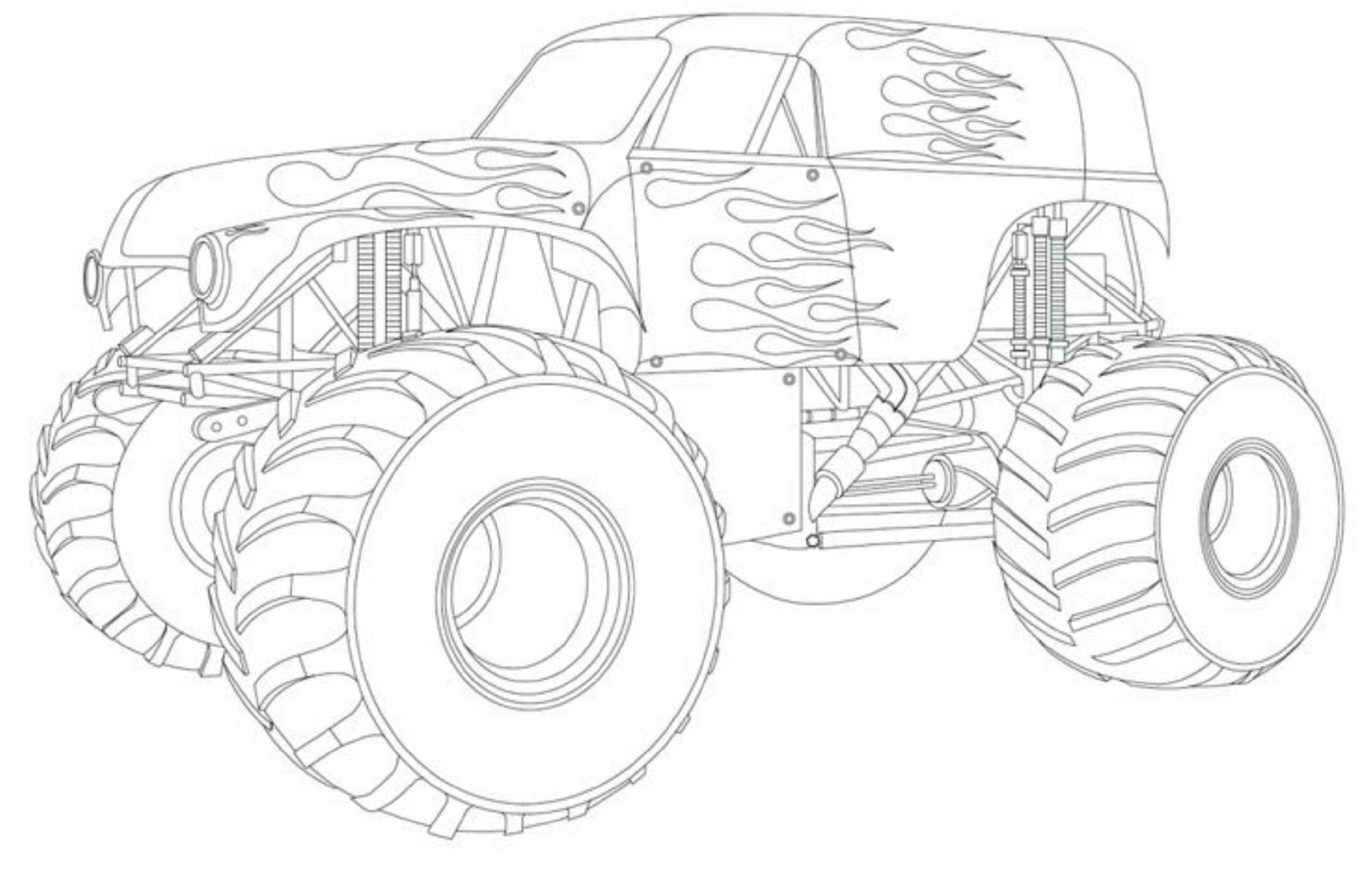 grave digger coloring pages 5