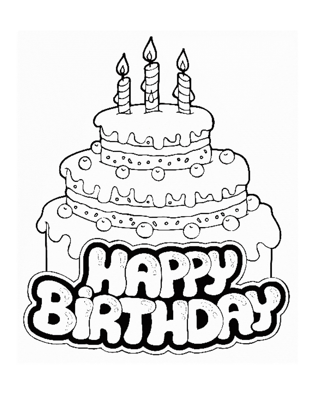 happy birthday coloring pages 4