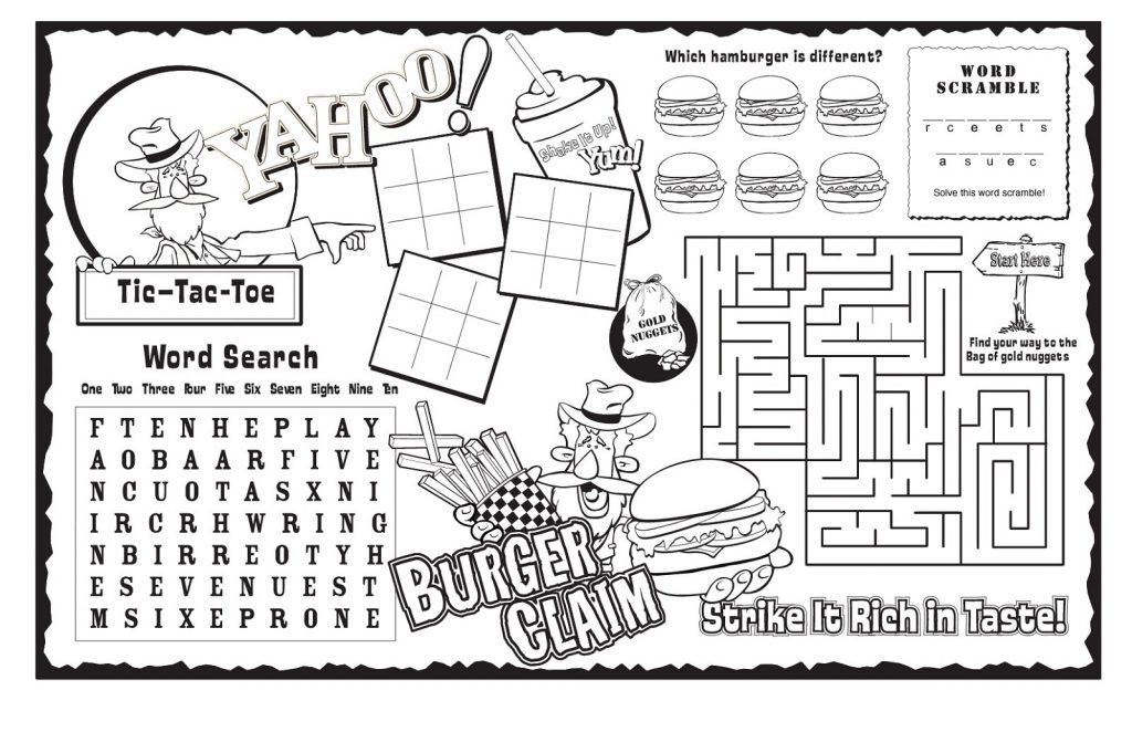 kids activity sheets 1
