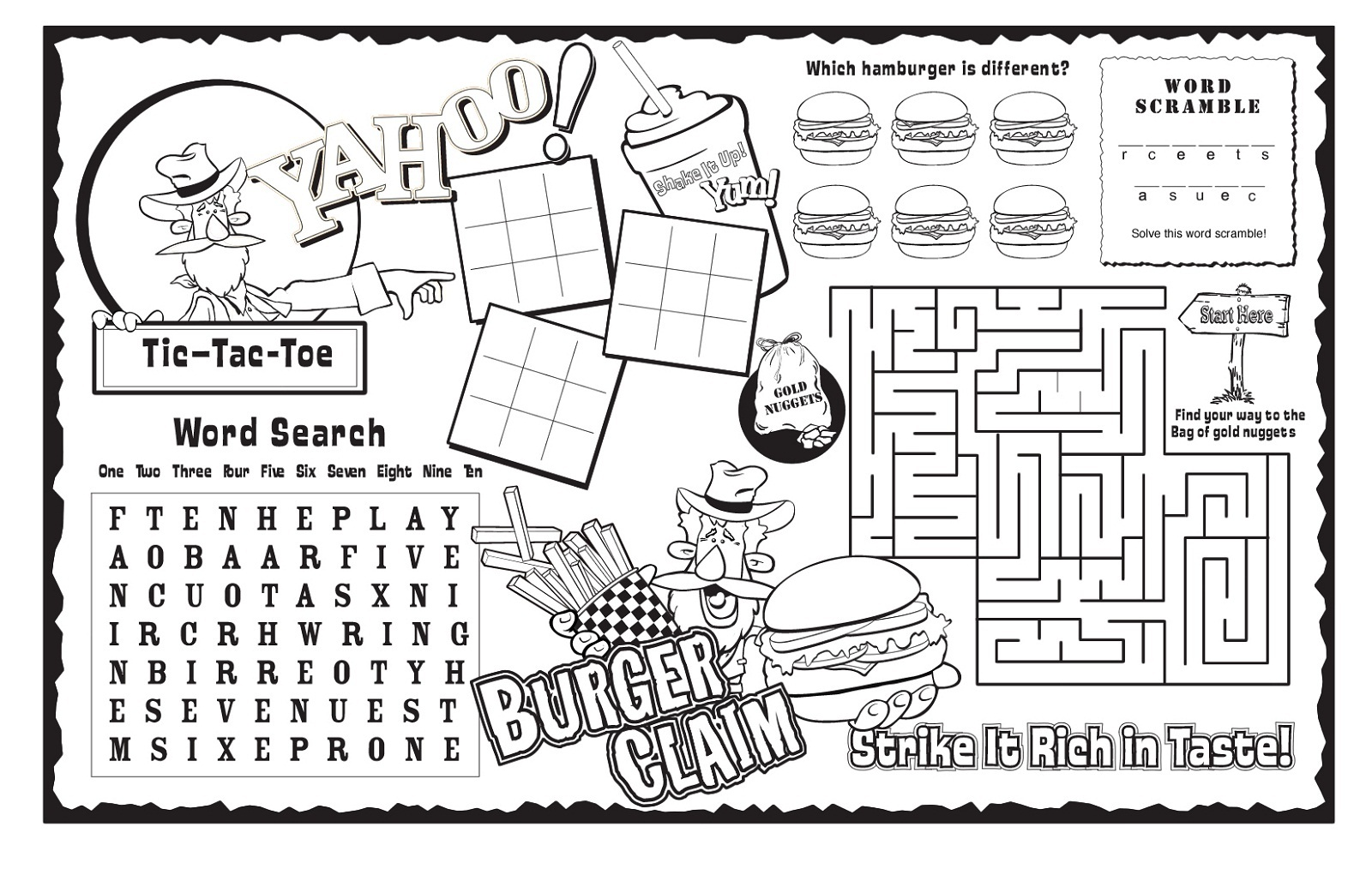 kids activity sheets 1