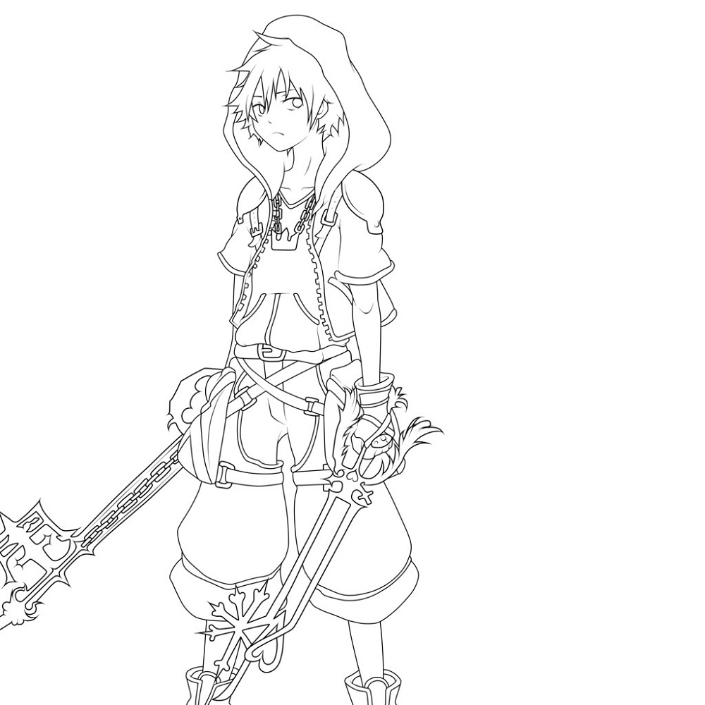 kingdom hearts coloring pages 1