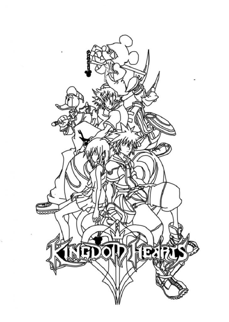 kingdom hearts coloring pages 2
