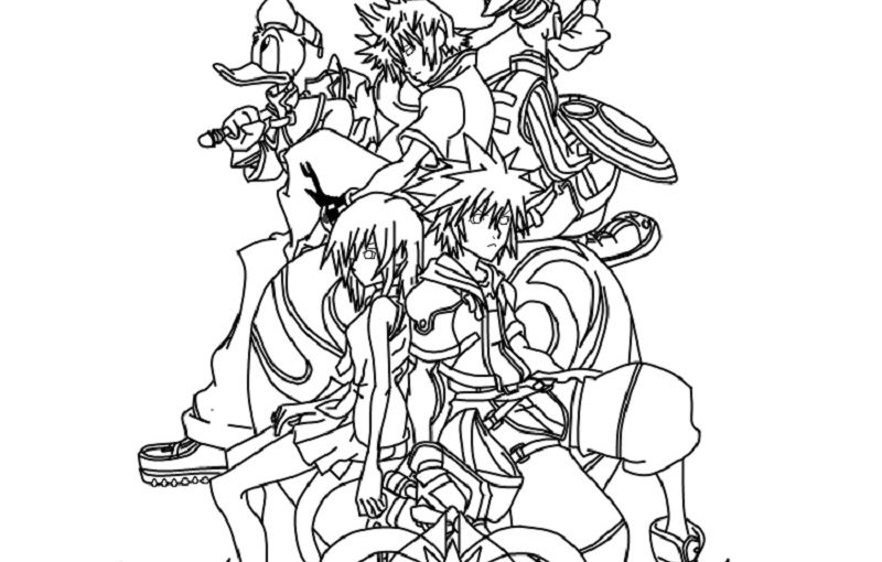 Kingdom Hearts Coloring Pages Downloadable