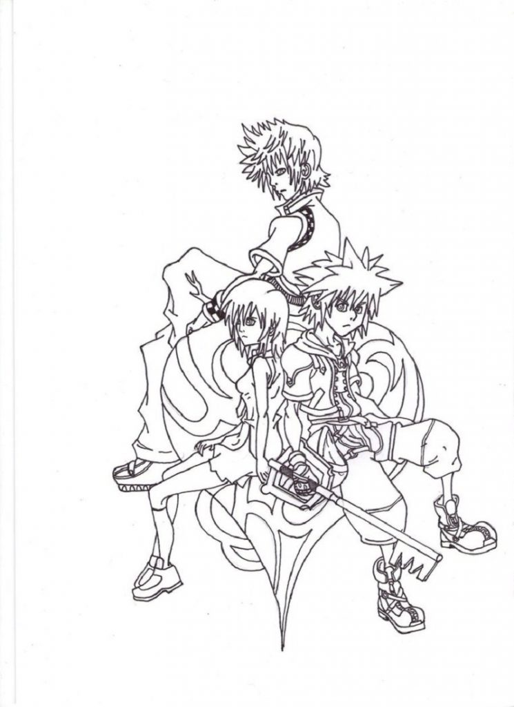 kingdom hearts coloring pages 3
