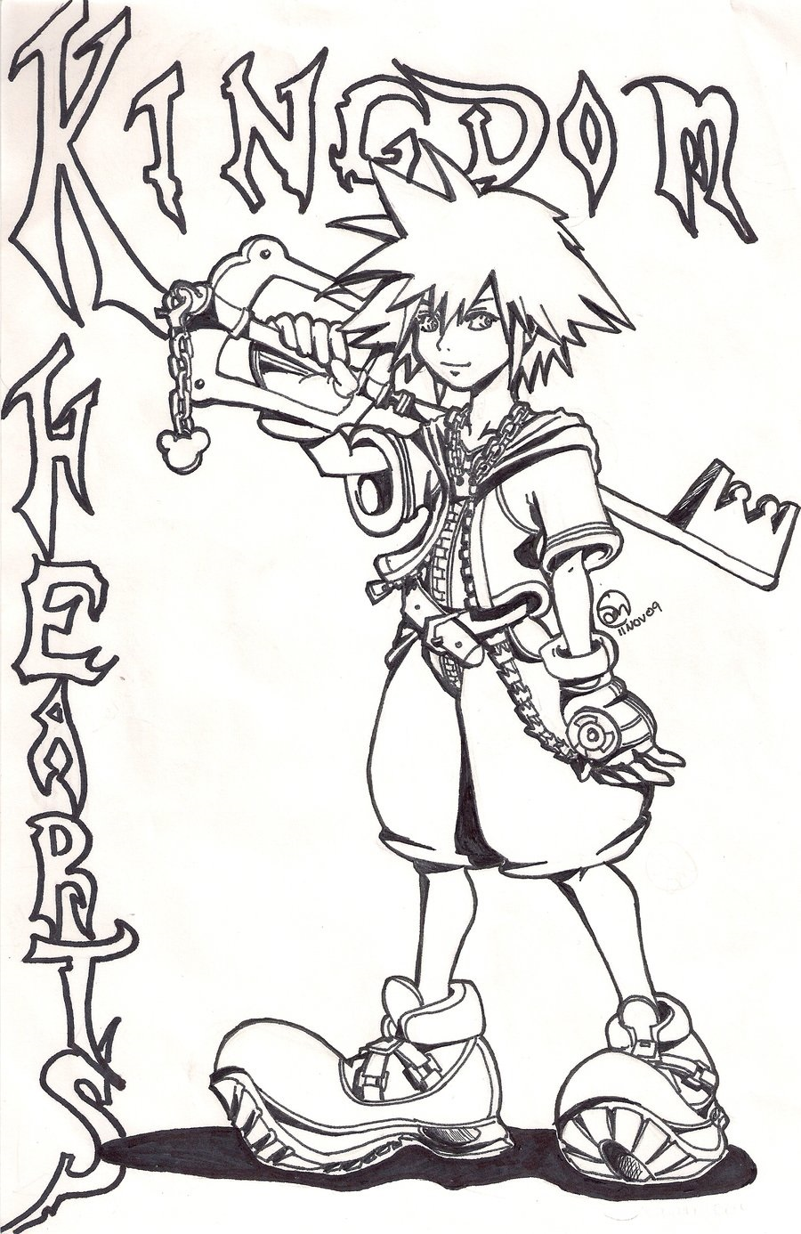 kingdom hearts coloring pages 4