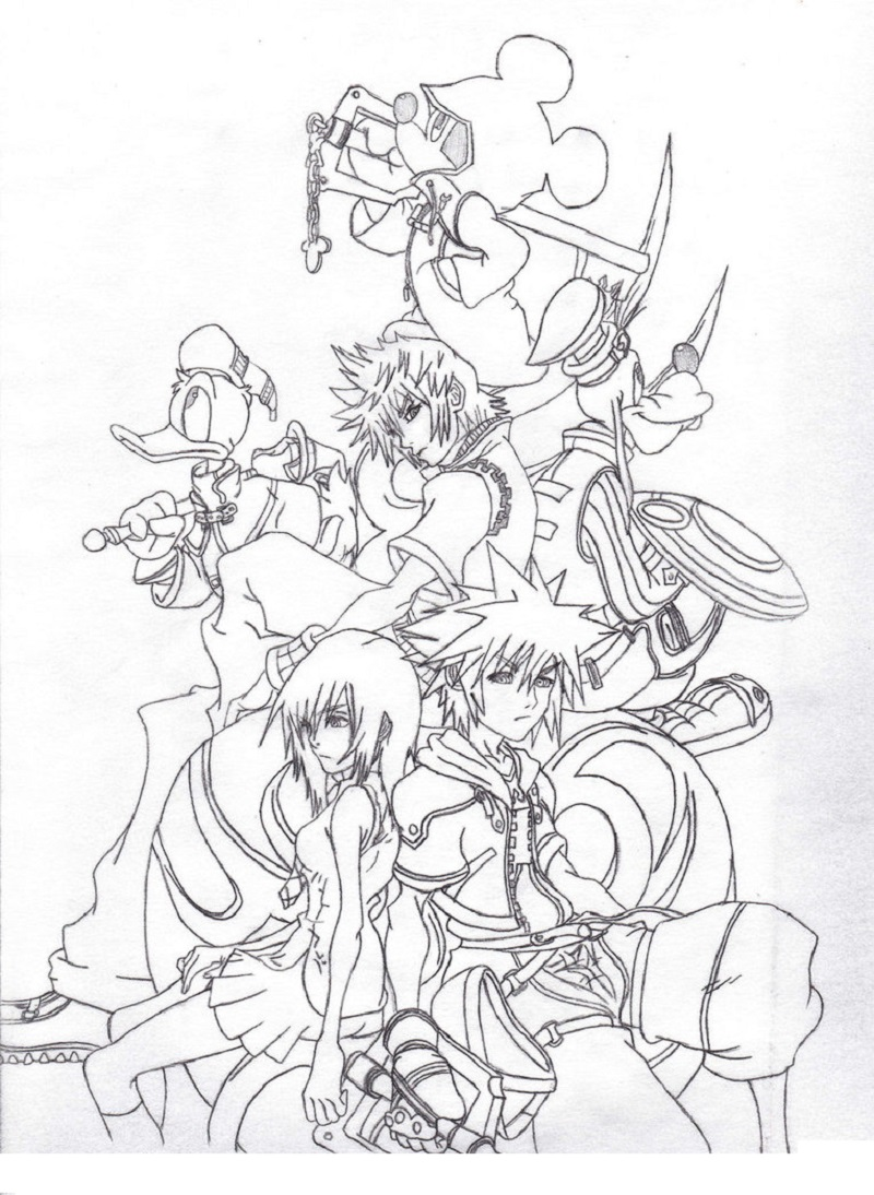 kingdom hearts coloring pages 5