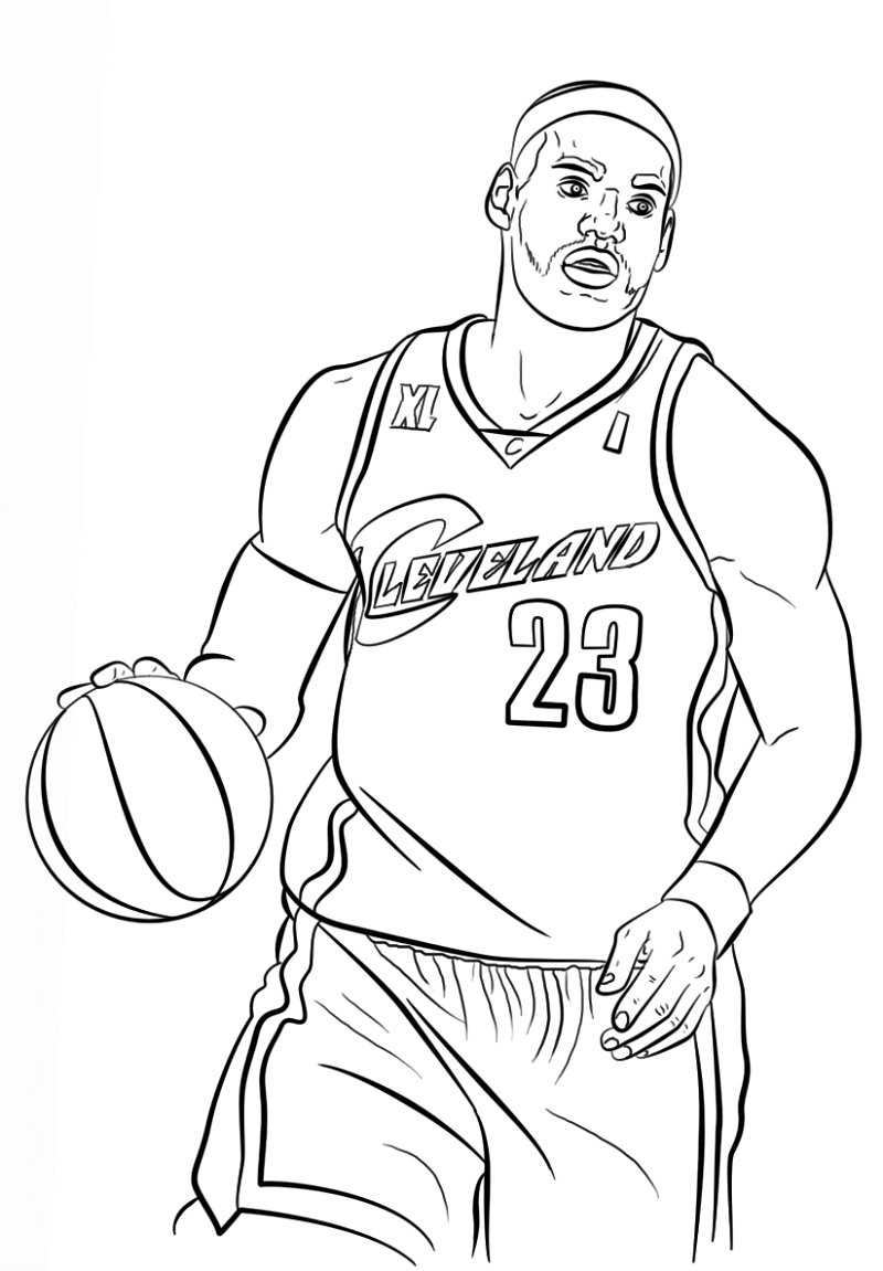 lebron james coloring pages 1