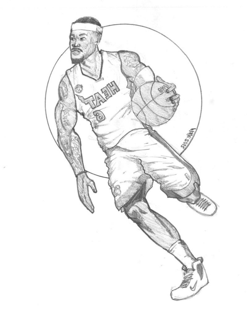 lebron james coloring pages 4