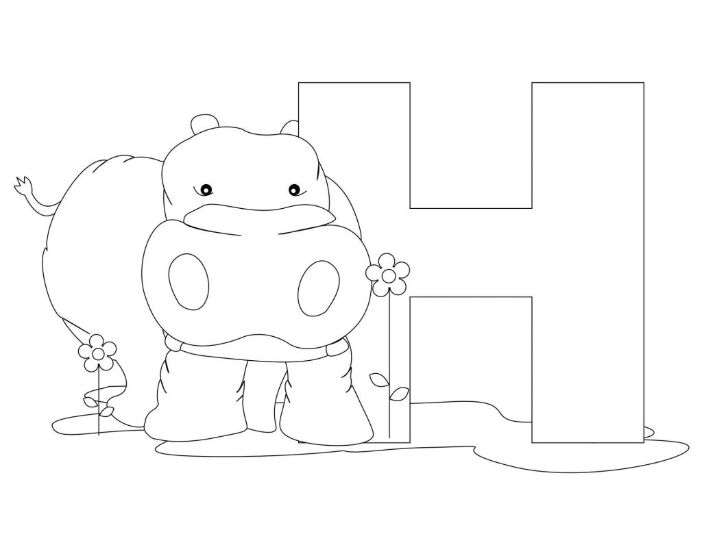 letter a coloring pages cow