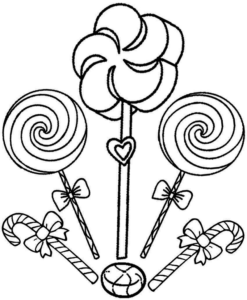 lollipop coloring page 1