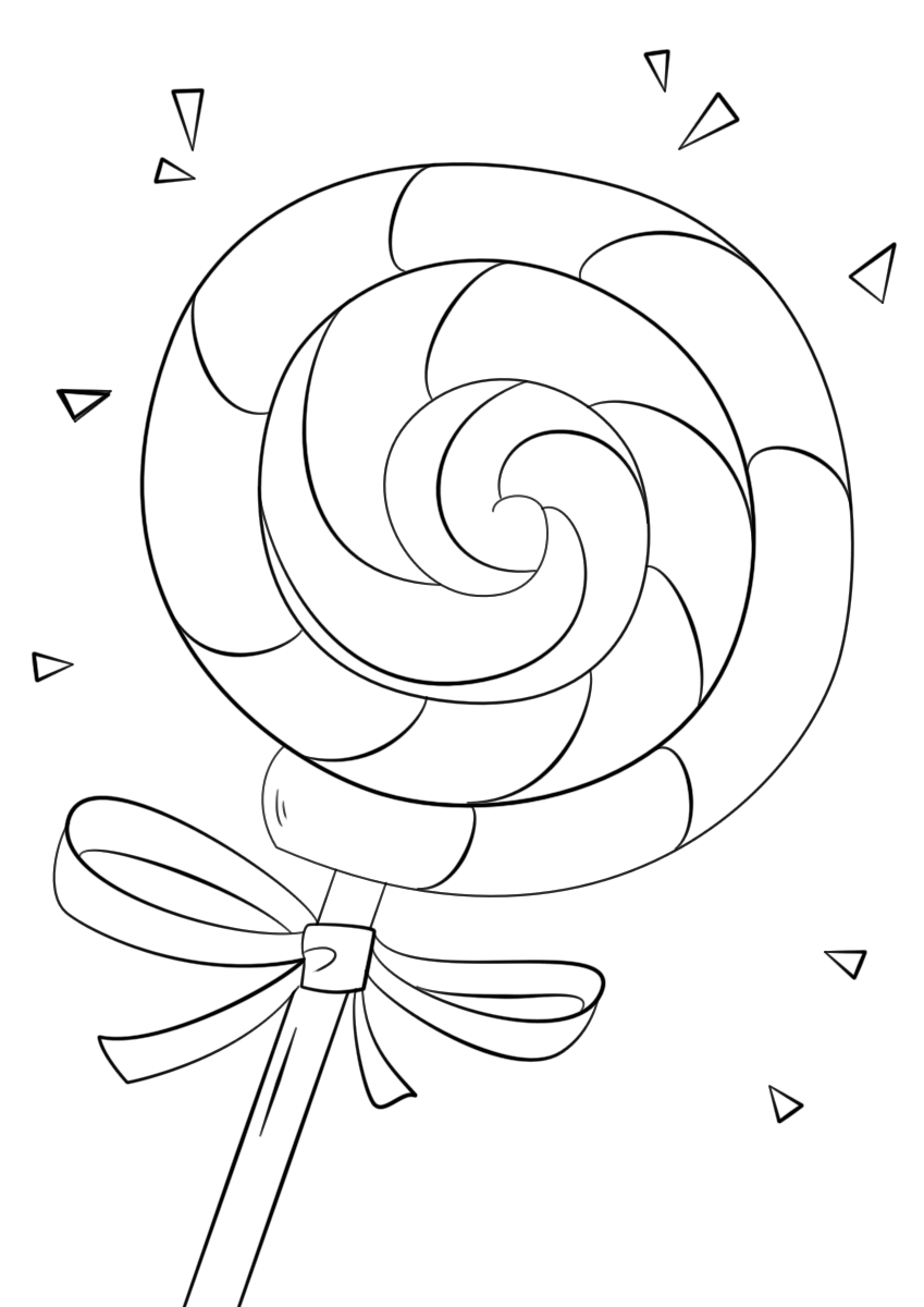 lollipop coloring page 2
