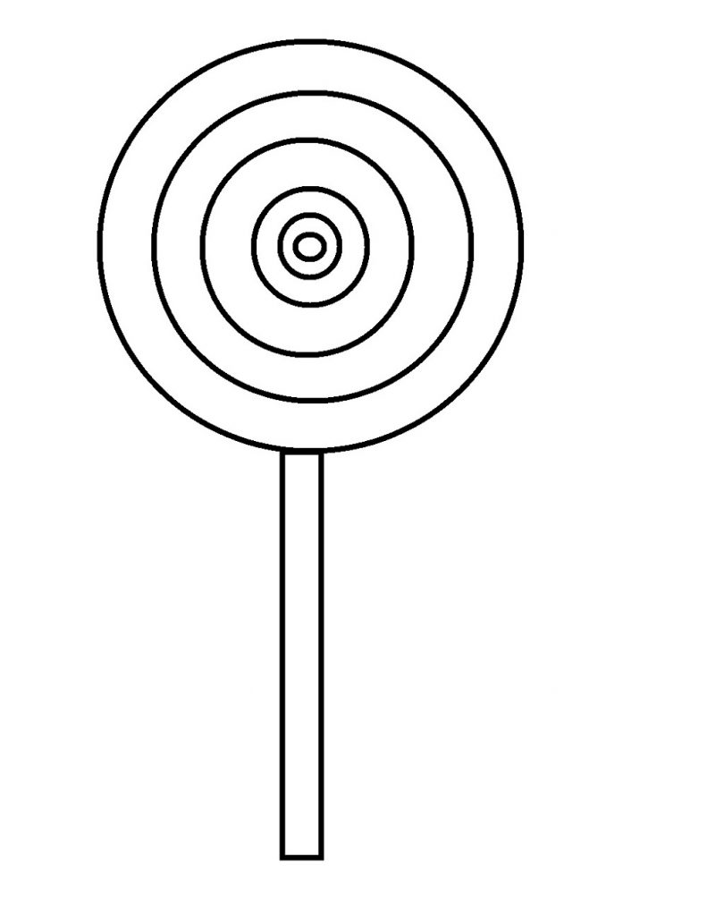 lollipop coloring page 3