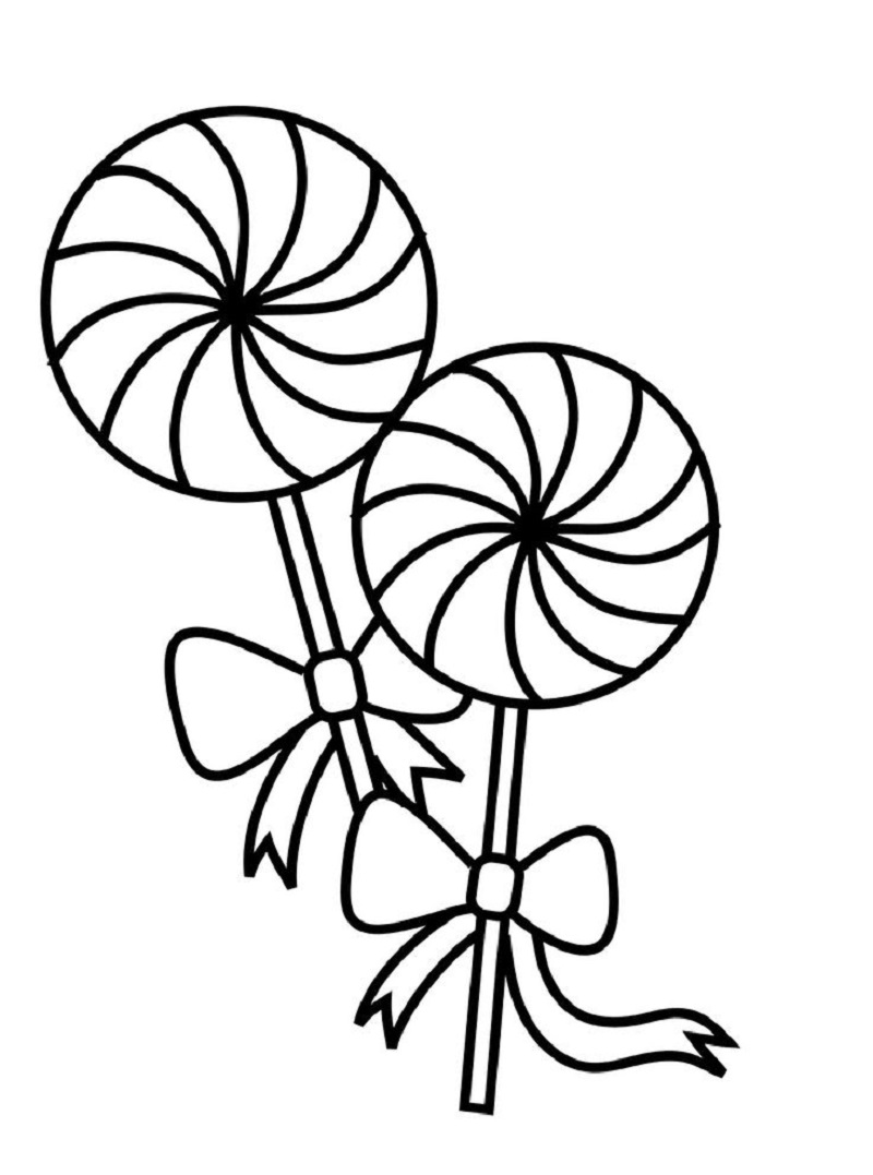 lollipop coloring page 4