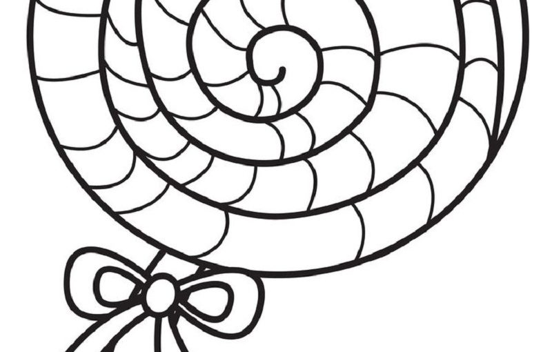 Lollipop Coloring Page for Young and Old