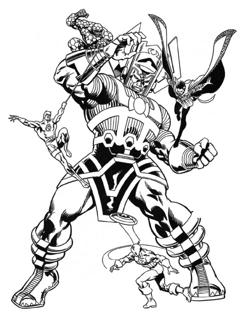 marvel coloring pages 4