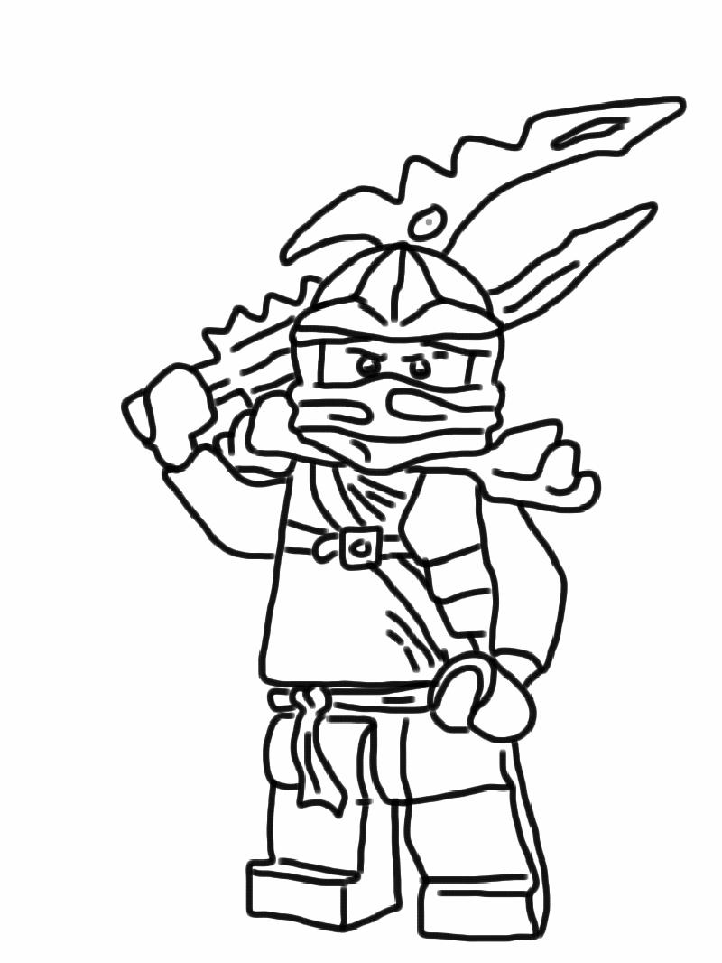 ninjago jay coloring pages 1