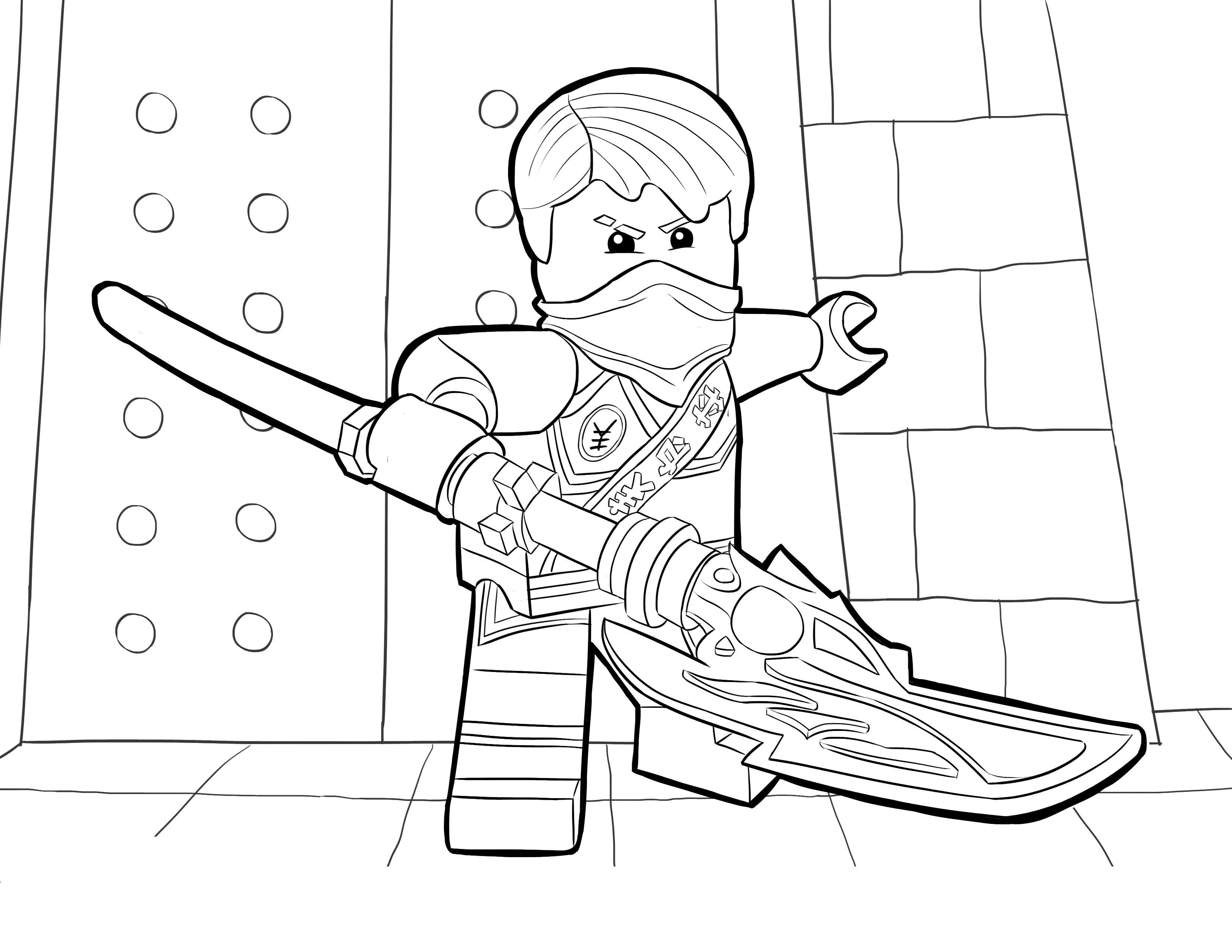 ninjago jay coloring pages 4