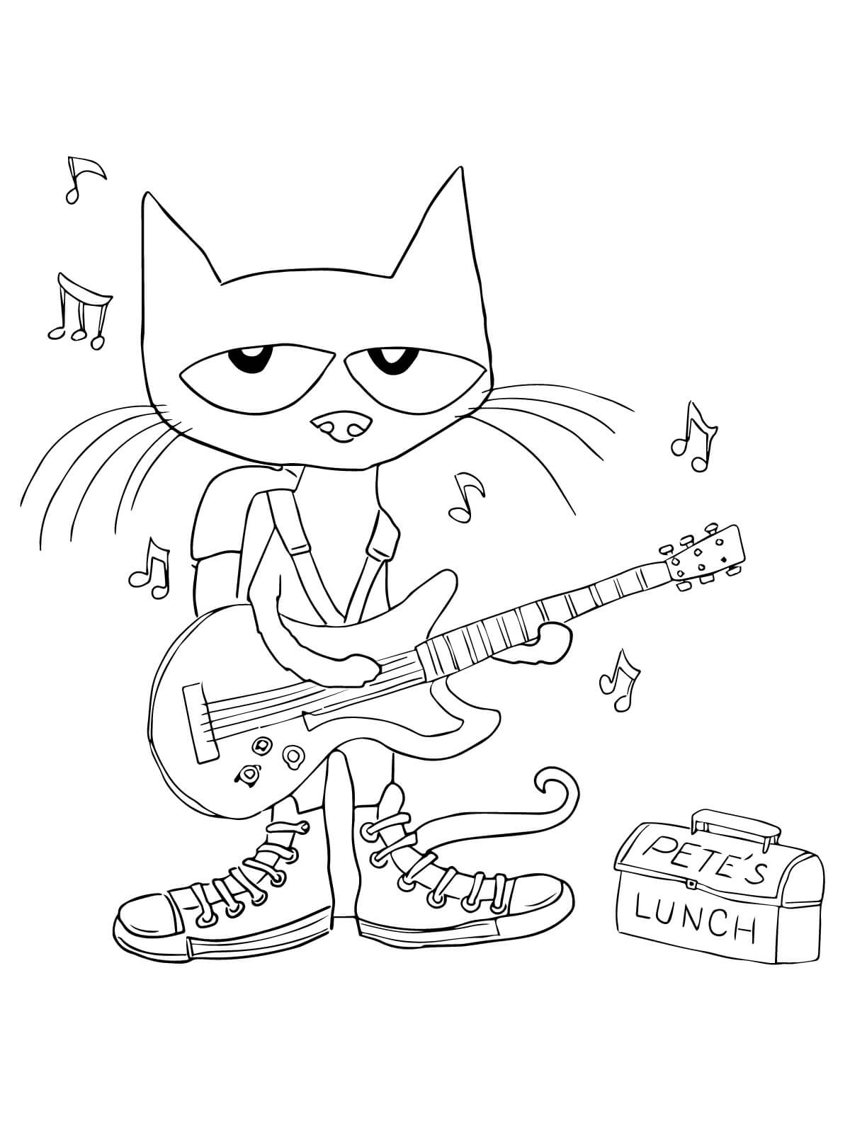 pete the cat coloring page 1