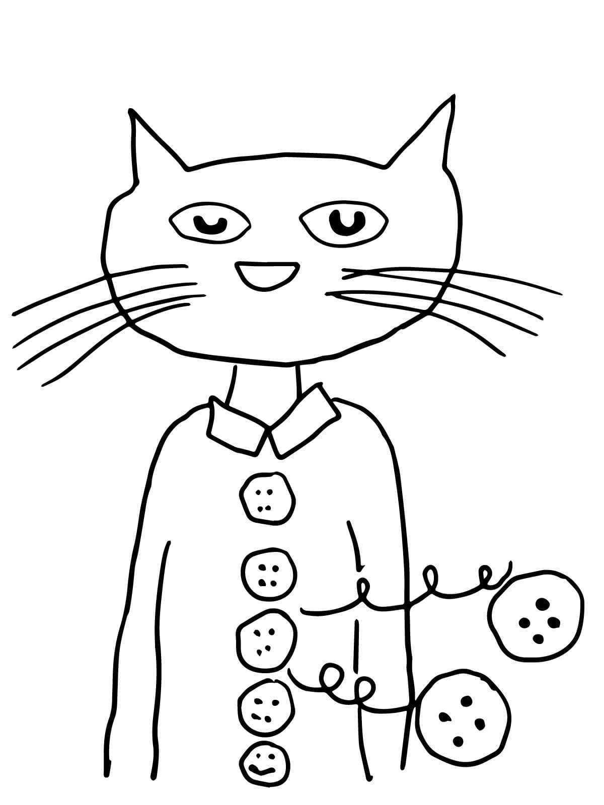 pete the cat coloring page 3