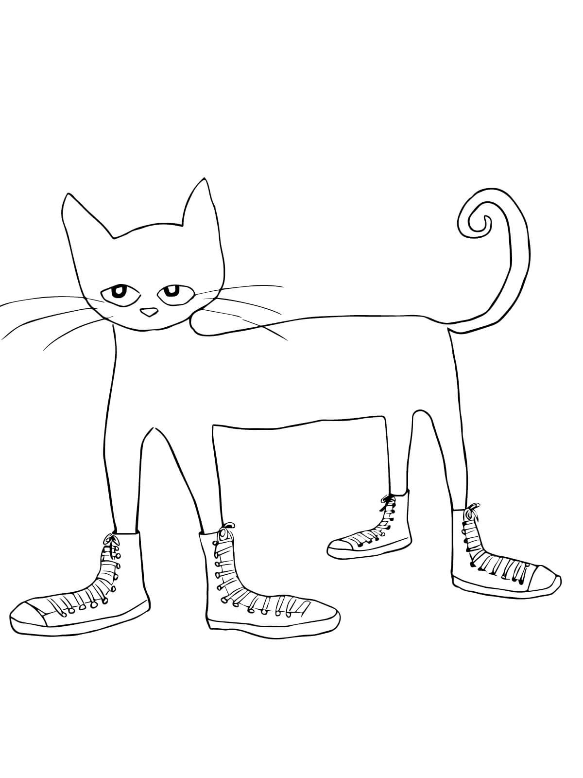 pete the cat coloring page 4