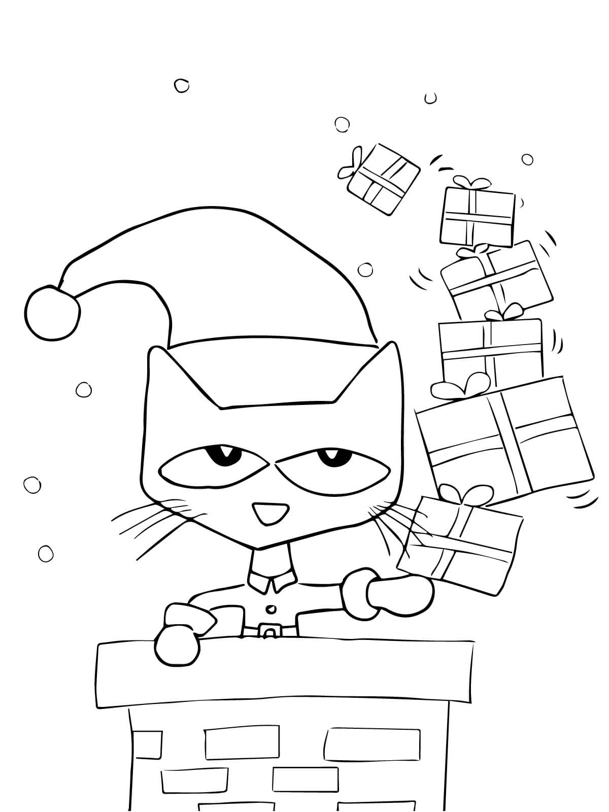 pete the cat coloring page 5