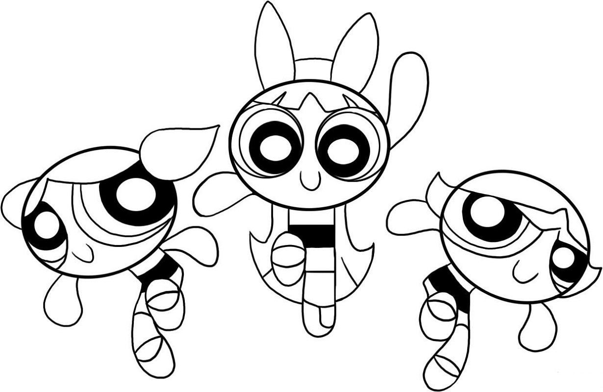 powerpuff girls coloring pages 1