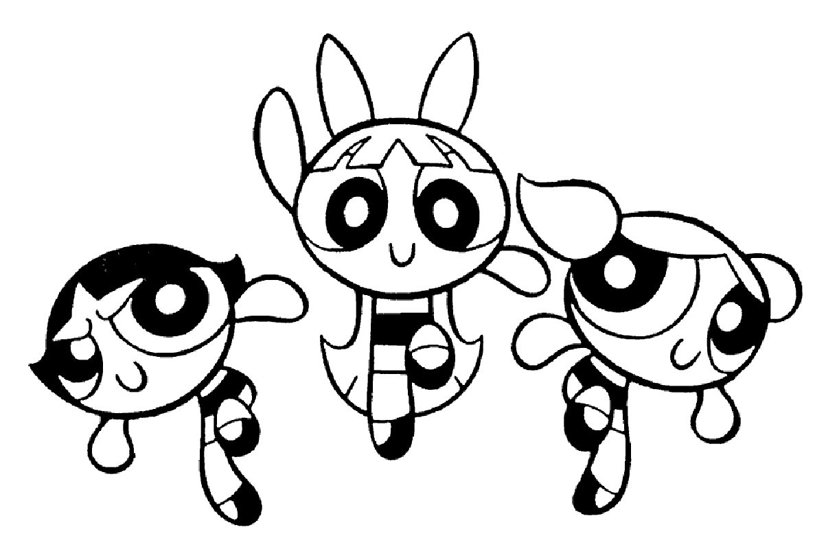 powerpuff girls coloring pages 5