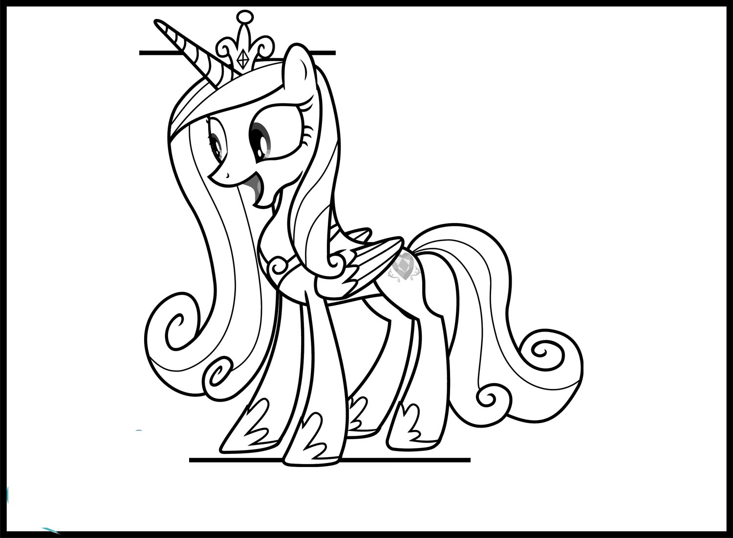 princess cadence coloring pages 1