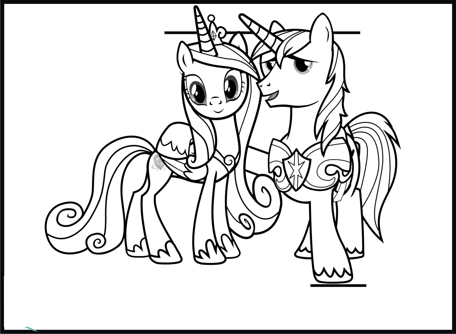 princess cadence coloring pages 5