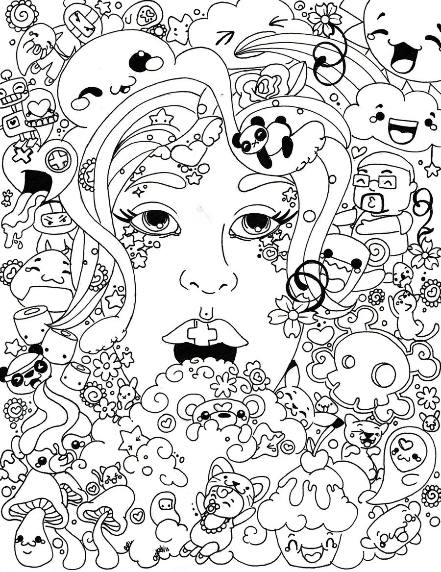 psychedelic coloring pages 1