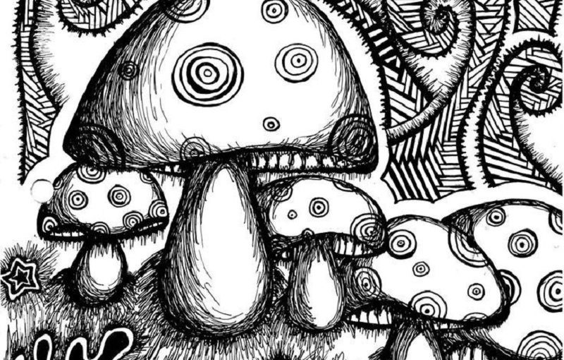 psychedelic coloring pages 2