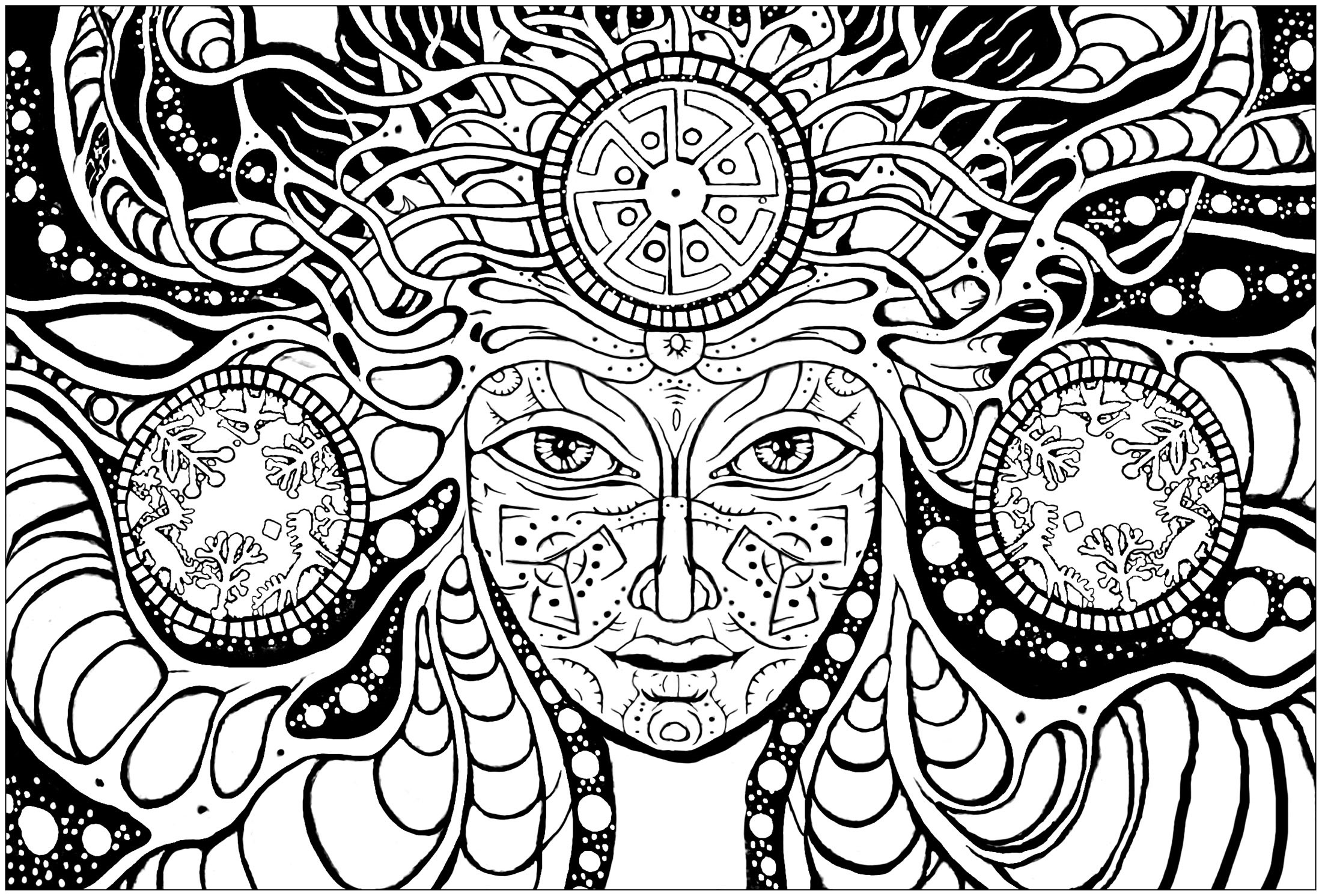 psychedelic coloring pages 5