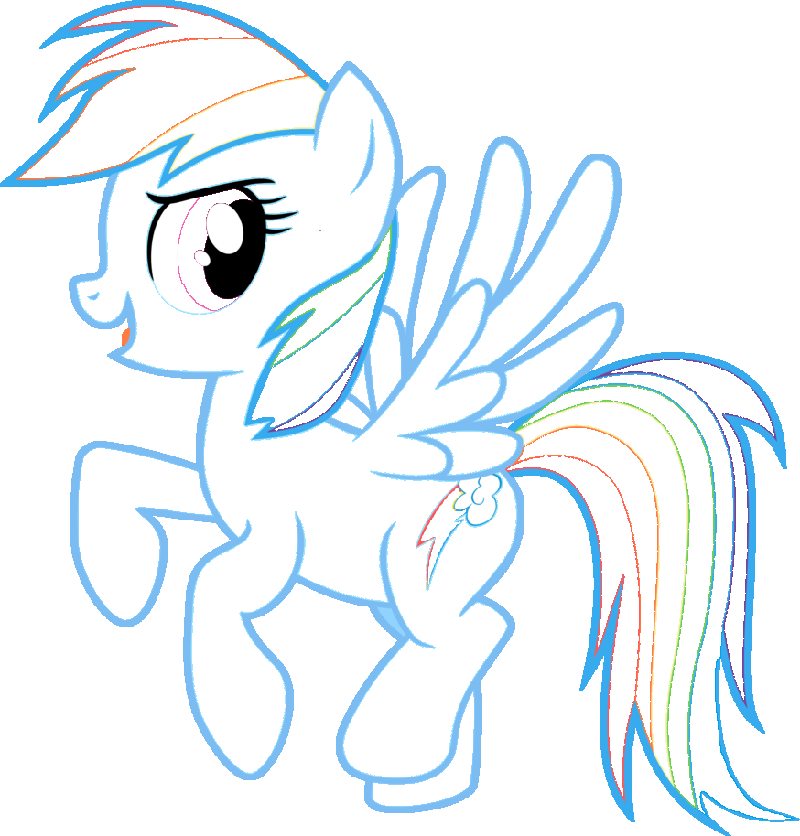 rainbow dash coloring pages 1