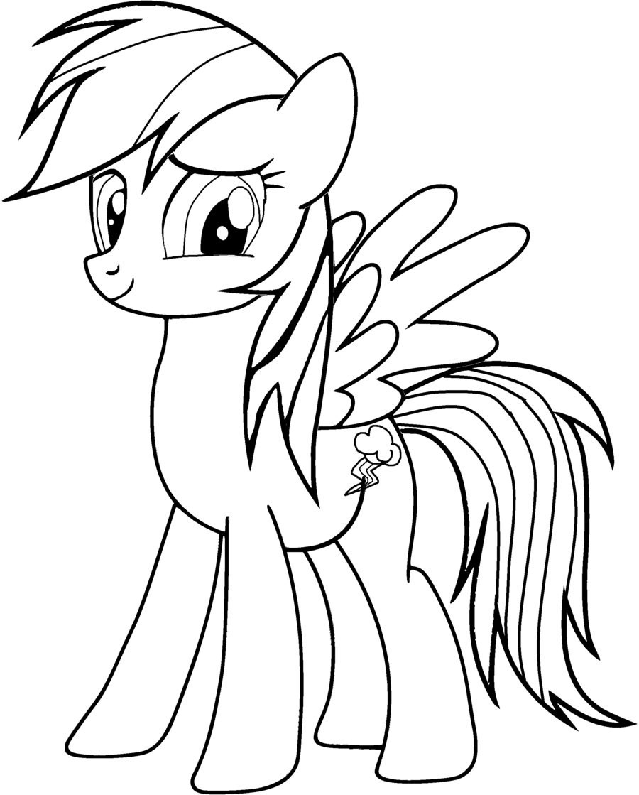 rainbow dash coloring pages 3