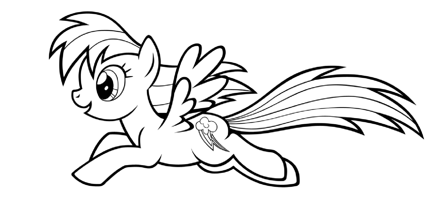 rainbow dash coloring pages 5