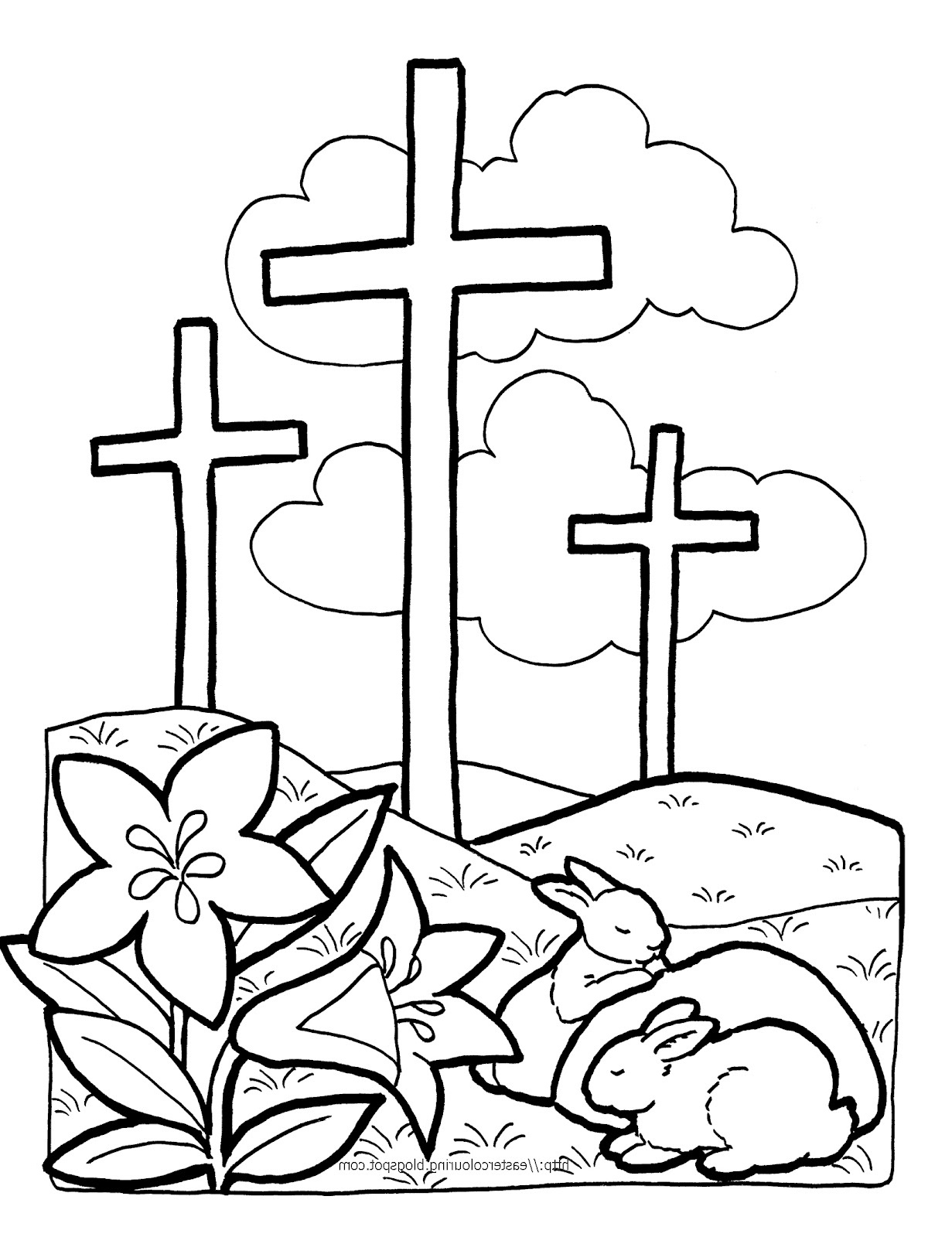 religious easter coloring pages 1