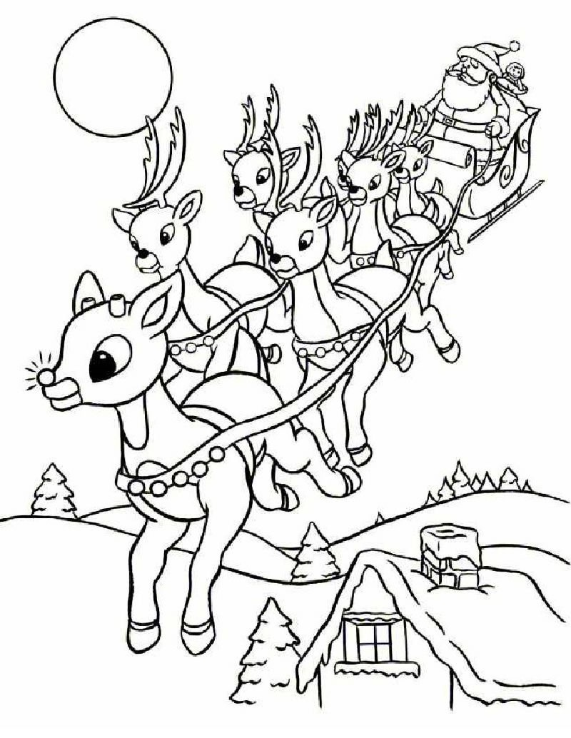 rudolph coloring pages 2
