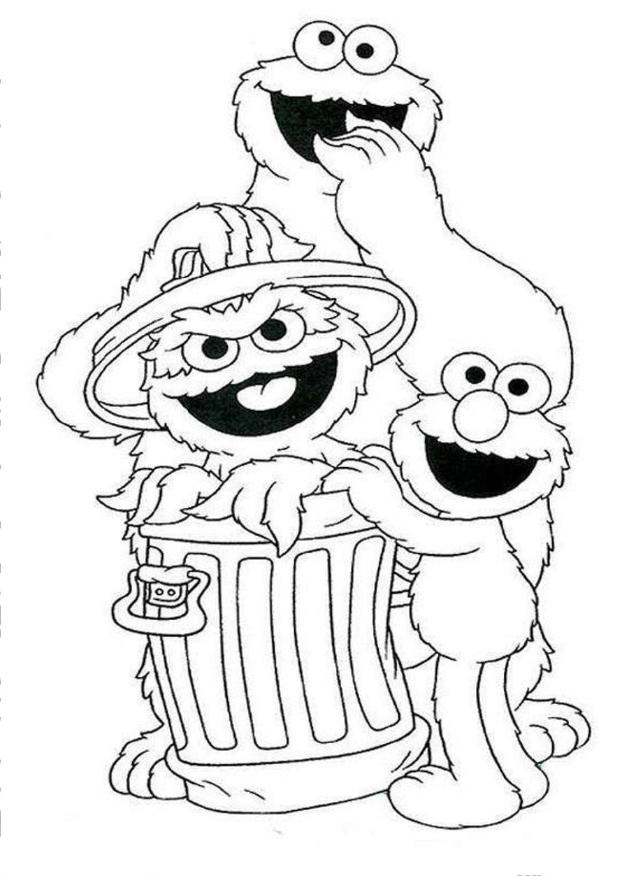 sesame street coloring pages 1