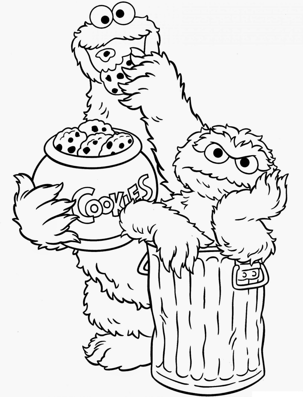 sesame street coloring pages 2