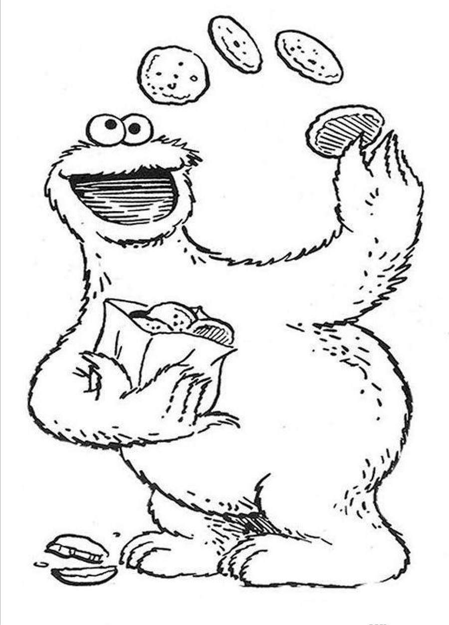 sesame street coloring pages 3