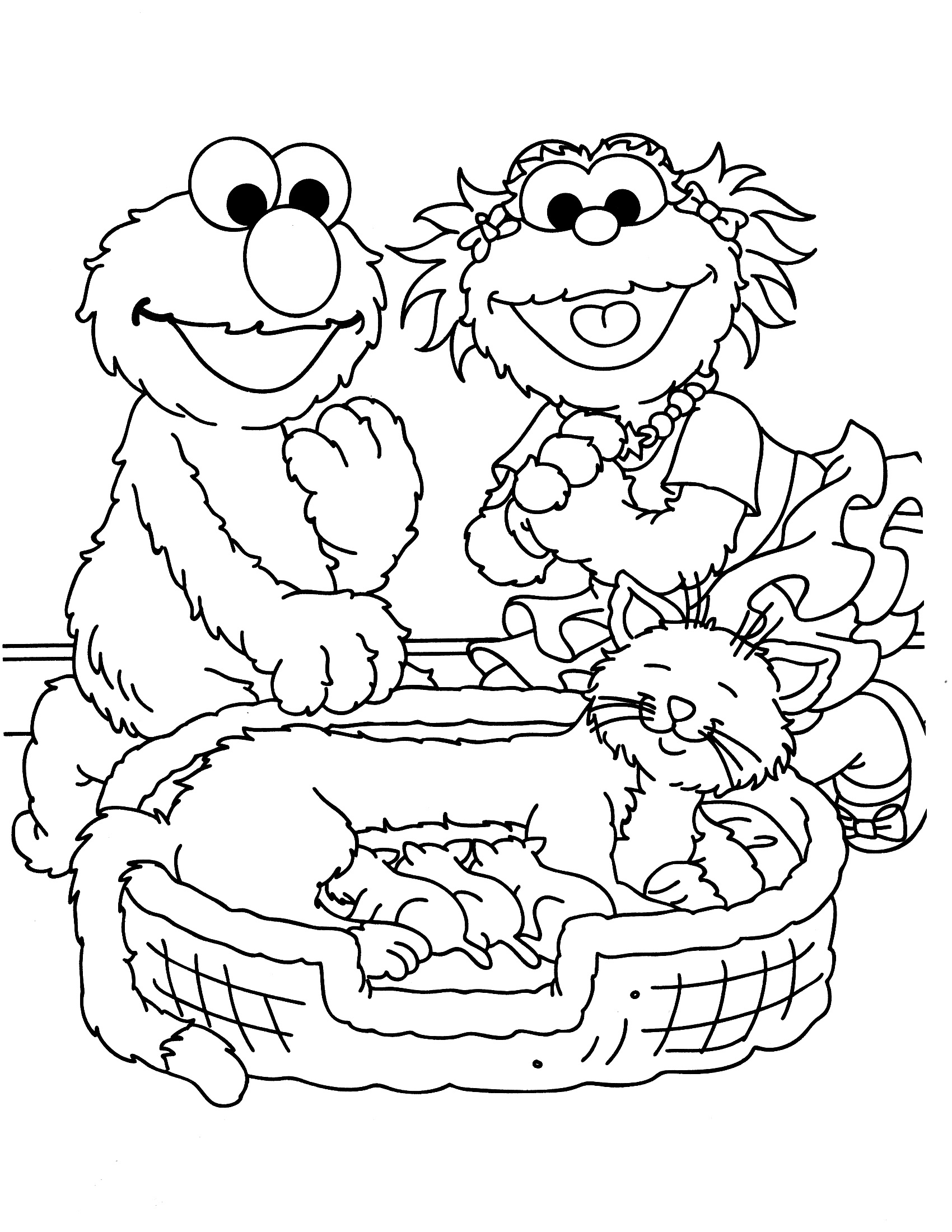 sesame street coloring pages 4