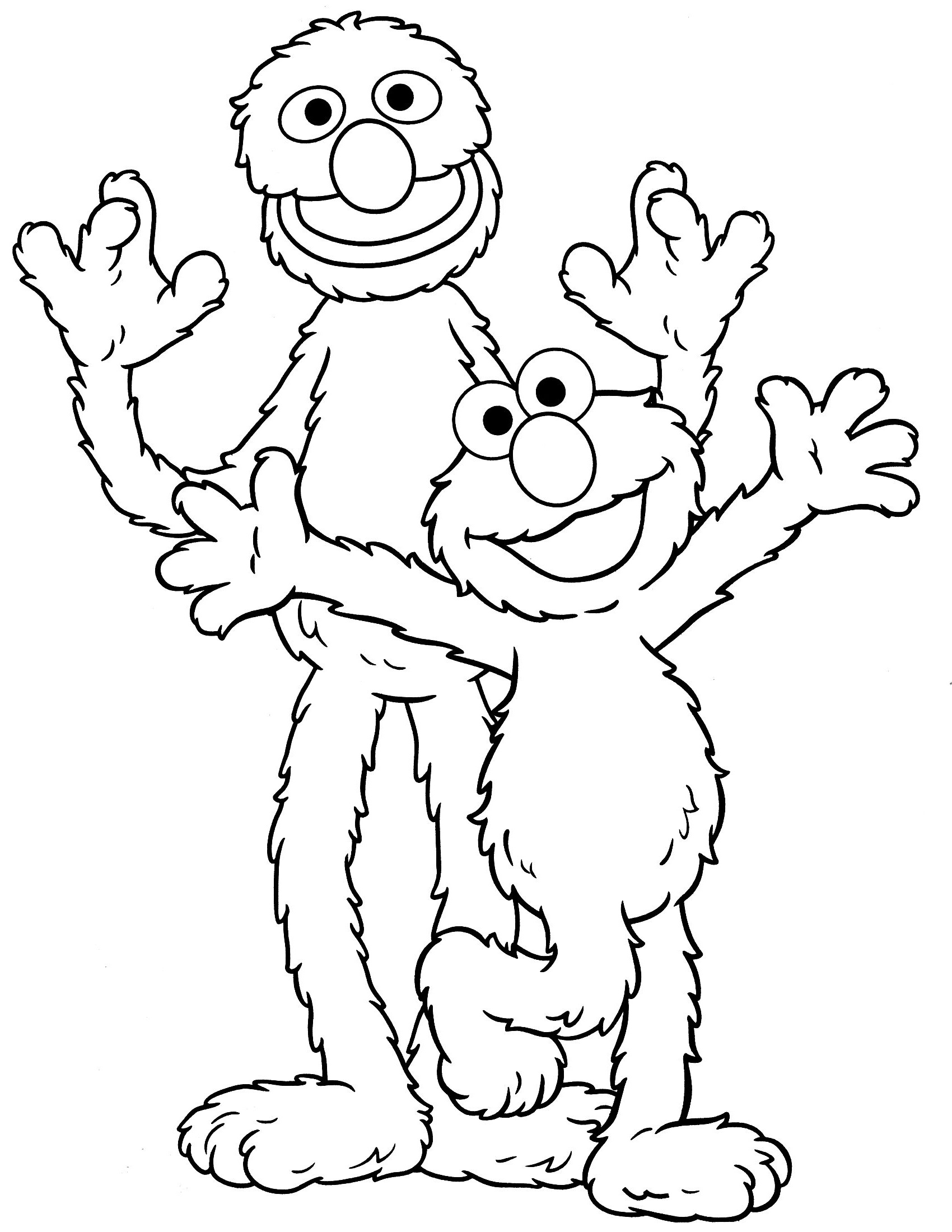 sesame street coloring pages 5
